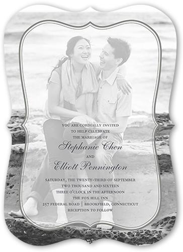 Bordered Euphoria Wedding Invitation, Square