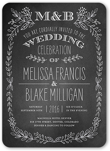 Captivated Chalk Wedding Invitation