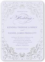 whimsical scrolls wedding invitation 5x7 flat