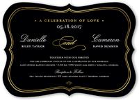 celebration of love wedding invitation 5x7 flat