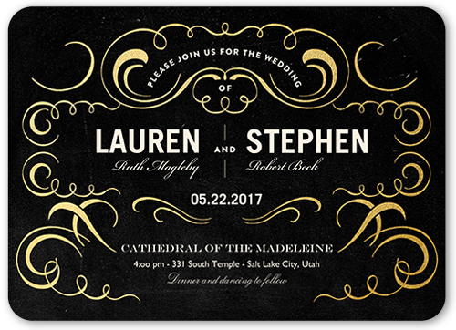 exquisite love wedding invitation - Shutterfly Wedding Invitations