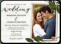 ingrained love wedding invitation 5x7 flat