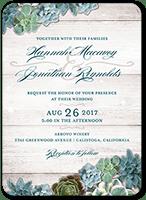 splendid succulents wedding invitation 5x7 flat