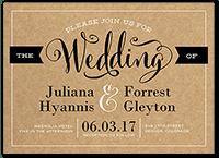 charming elegance wedding invitation 5x7 flat