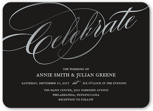 Simply Scripted Celebration Wedding Invitation