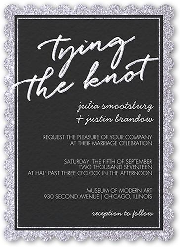 Sparkling Border Wedding Invitation