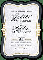 brilliant bracket border wedding invitation 5x7 flat