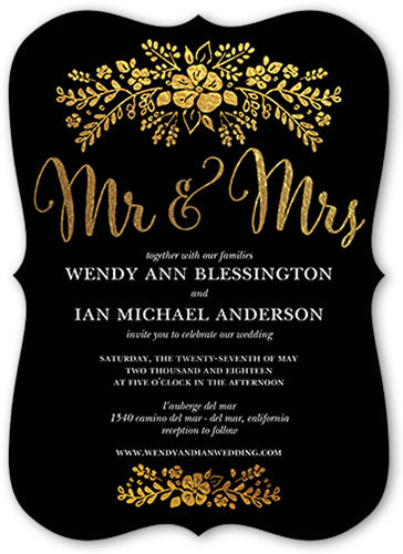 fabulous floral wedding invitation - Shutterfly Wedding Invitations