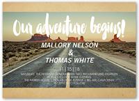 our adventure wedding invitation 5x7 flat