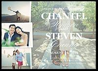 picture perfect couple wedding invitation 5x7 flat