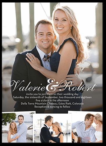Beginning Of Forever Wedding Invitation, Square Corners