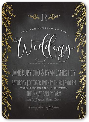 Shining Adoration Wedding Invitation, Rounded Corners