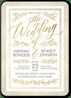 gilded perfection wedding invitation 5x7 flat