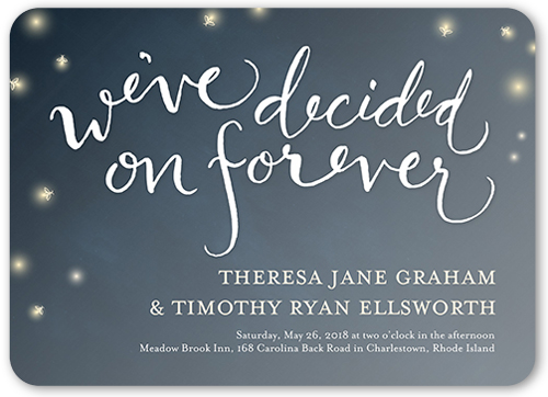 decided on forever wedding invitation - Shutterfly Wedding Invitations
