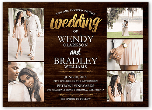 Radiant Devotion Wedding Invitation, Square Corners