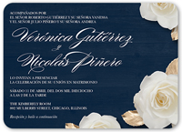 flores de amor wedding invitation 5x7 flat