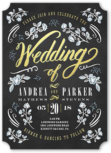 Our Day Forever Wedding Invitation, Ticket Corners