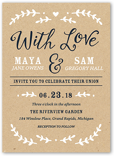 Forever begins with you 5x7 wedding invitations shutterfly front stopboris Image collections