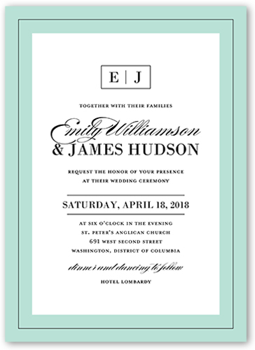 Refined Details Wedding Invitation, Square Corners