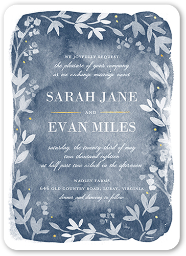 Watercolor Wonderment Wedding Invitation, Rounded Corners