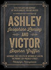 chalk splendor wedding invitation