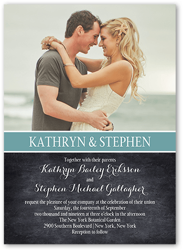 Cherished Calendar Wedding Invitation, Square Corners