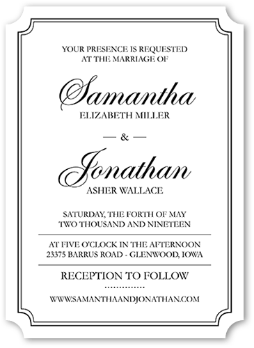 Dipped Love Modest 5x7 Wedding Invitations Shutterfly