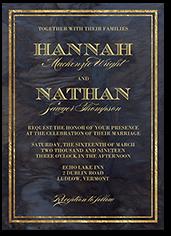 swirling romance wedding invitation