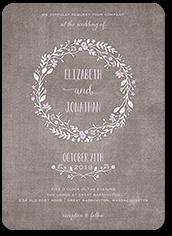 wreath in love wedding invitation