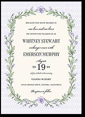 blooming lattice wedding invitation 5x7 flat