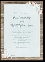 sweet starfish wedding invitation 5x7 flat