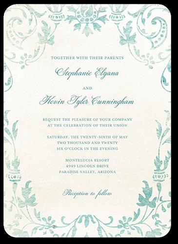 Damask Wedding Invitations Shutterfly
