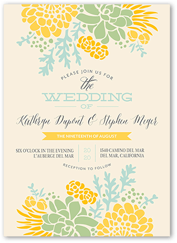 Sunflower Wedding Invitations Shutterfly