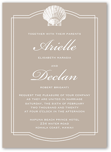 Tropical Bliss Wedding Invitation, Square Corners