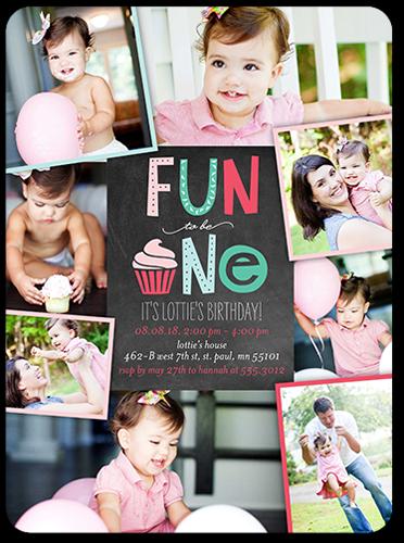 Fun Collage Girl Birthday Invitation