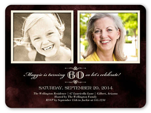 Over The Years Birthday Invitation, Rounded Corners