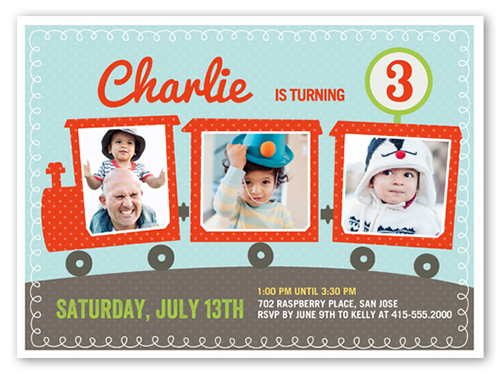 party train x invitation card  birthday invitations  shutterfly, Birthday invitations