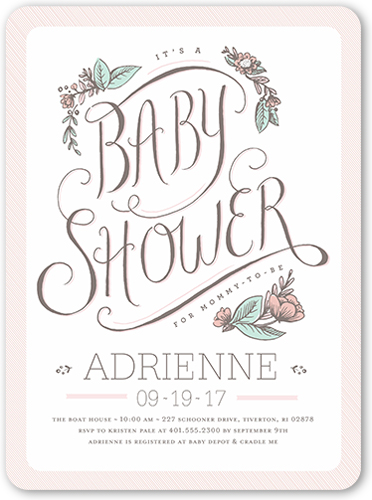 Darling Shower 6x8 Girl Photo Baby Shower Invitations Shutterfly