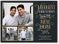merriest new home moving announcement 6x8 flat