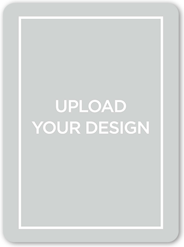 Upload Your Own Design Birth Announcement, Rounded Corners