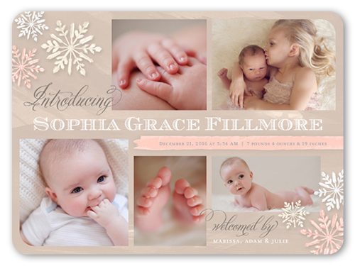 Magic All Around Girl Birth Announcement, Rounded Corners