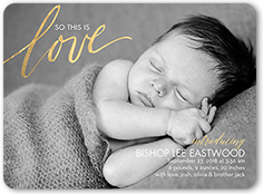 this is love birth announcement 6x8 flat