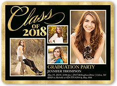 brilliant class border x graduation invitation  shutterfly, invitation samples