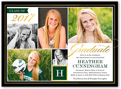 Treasured Years Collage Graduation Invitation by Stacy Claire Boyd