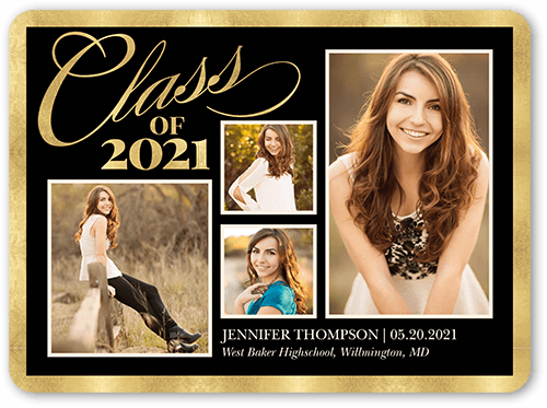 basic graduate 5x7 tri fold graduation announcements cards shutterfly