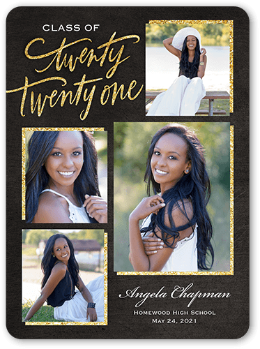 High School Graduation Announcements 2020.Noble Class 6x8 Graduation Announcements Shutterfly