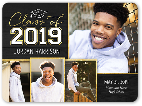 Simple Class Year 6x8 Graduation Announcements Cards Shutterfly