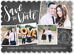 save it stamp save the date 6x8 flat