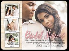 capturing moments bridal shower invitation 6x8 flat