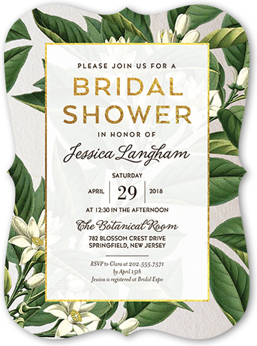 Botanical Dream Bridal Shower Invitation, Bracket Corners